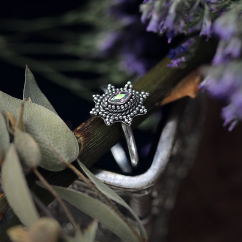 Adira Mystic Cubic Zirconia Sterling Silver Ring