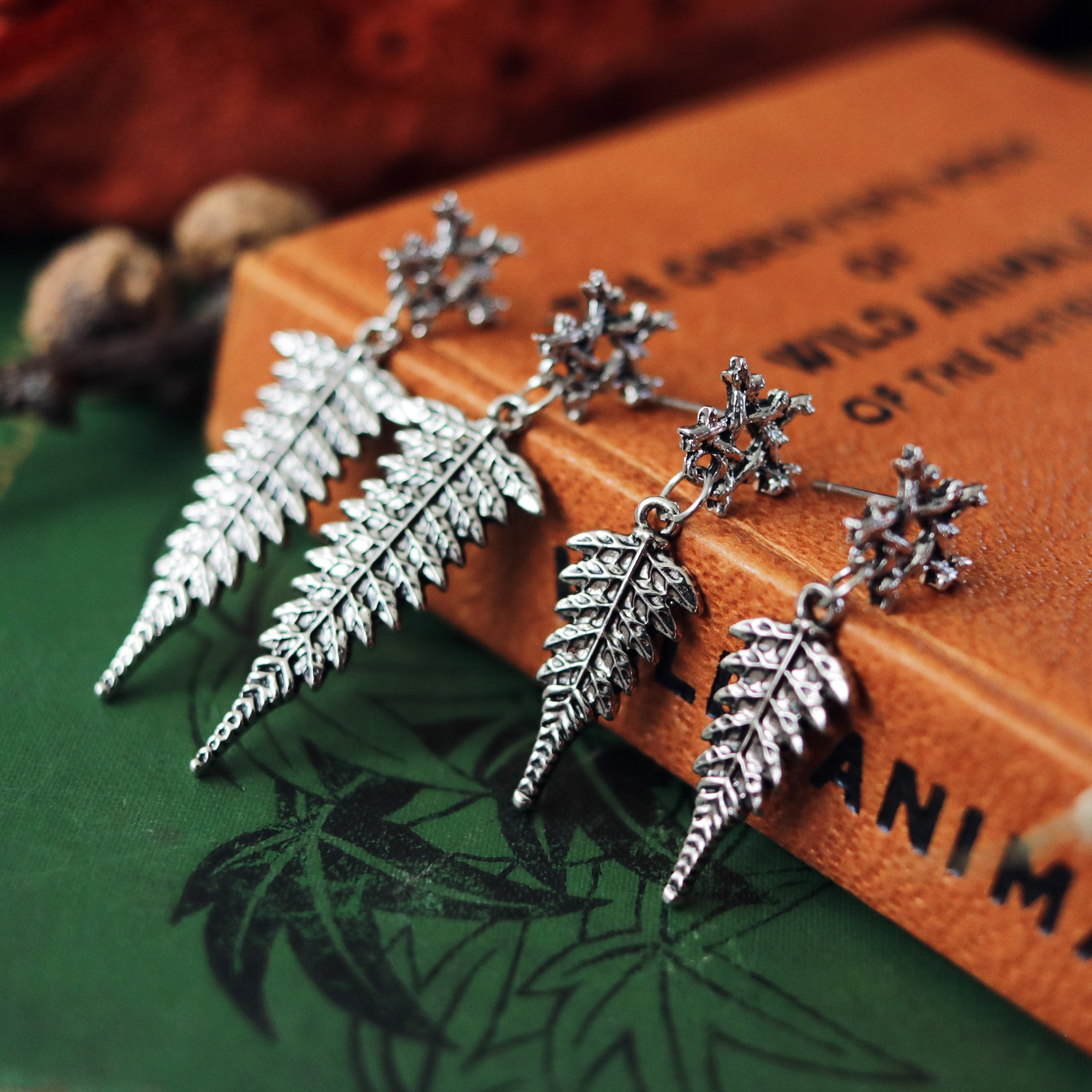 Willow Magick Fern Drop Earrings *Colour Select