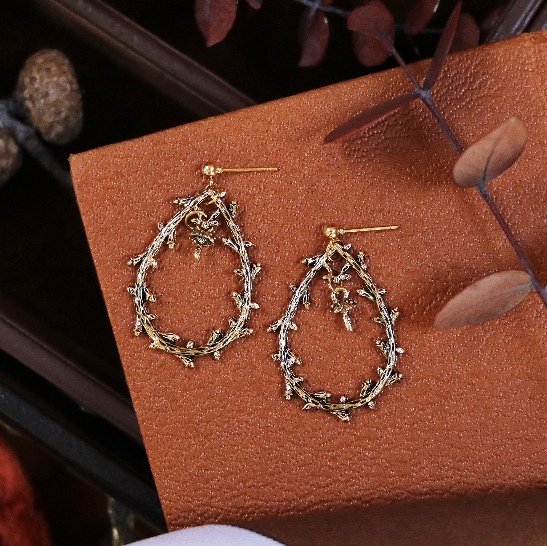 Natura Thorn Branch Drop Stud Earrings *Style Select