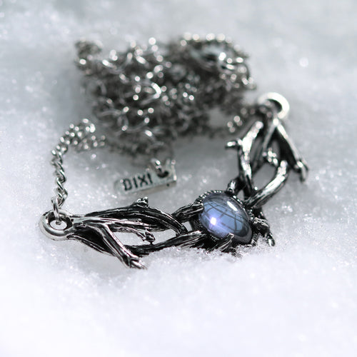 Skadi's Army Ice Blue Mini Thorn Branch Necklace