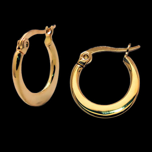 Rigel Boho Chic Simple Gold Hoops