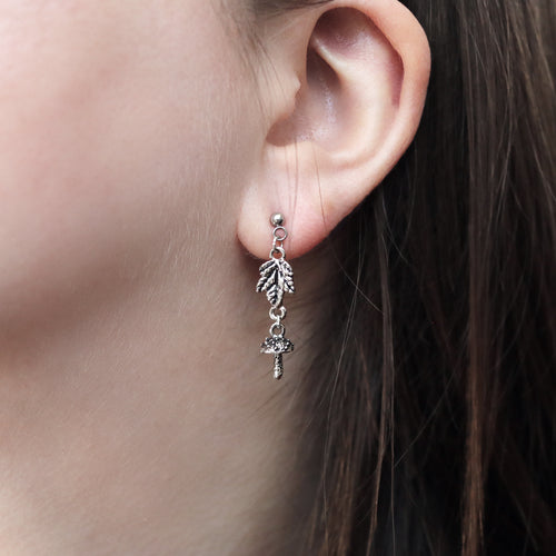 Sylvestris Deus Stud Drop Silver Earrings *Style Selection