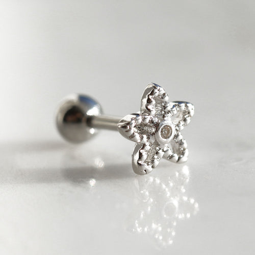 Summer Flower Crystal Barbell *Colour Selection
