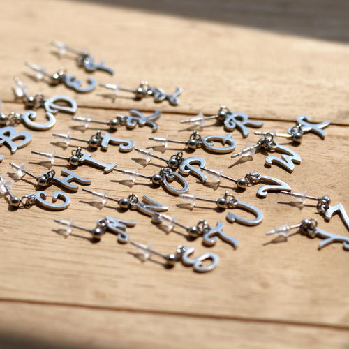 Initial Drop Stud Individual Earring *Style Select