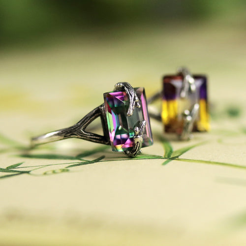 Forest Embrace Gothic Mystic Branch Ring