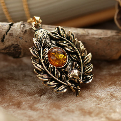 Regina Aurealis Amber Fox Boho Necklace *Colour Select