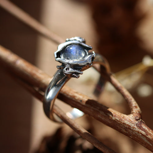 BACK SOON Leaping Hares Moonstone Ring | Harmony Nice X Dixi