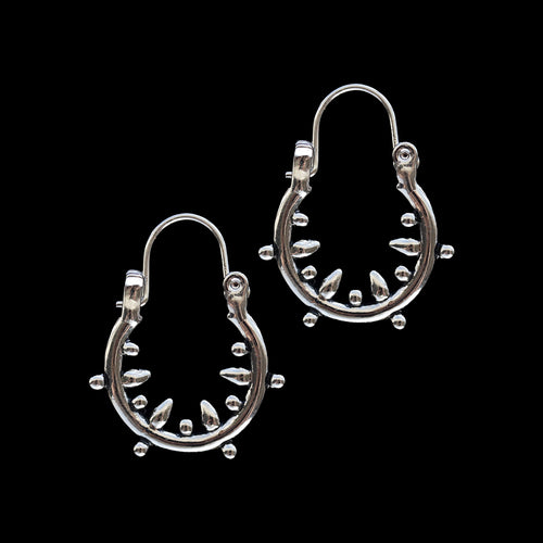 Danu Hoop Earrings Silver