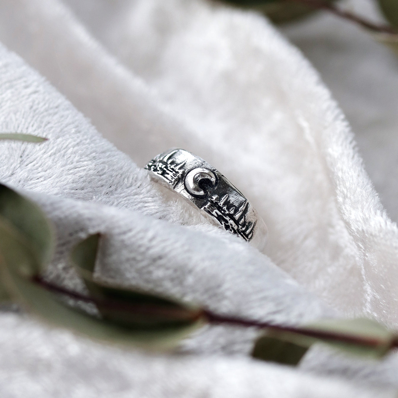 Winter's Moon Sterling Silver Ring