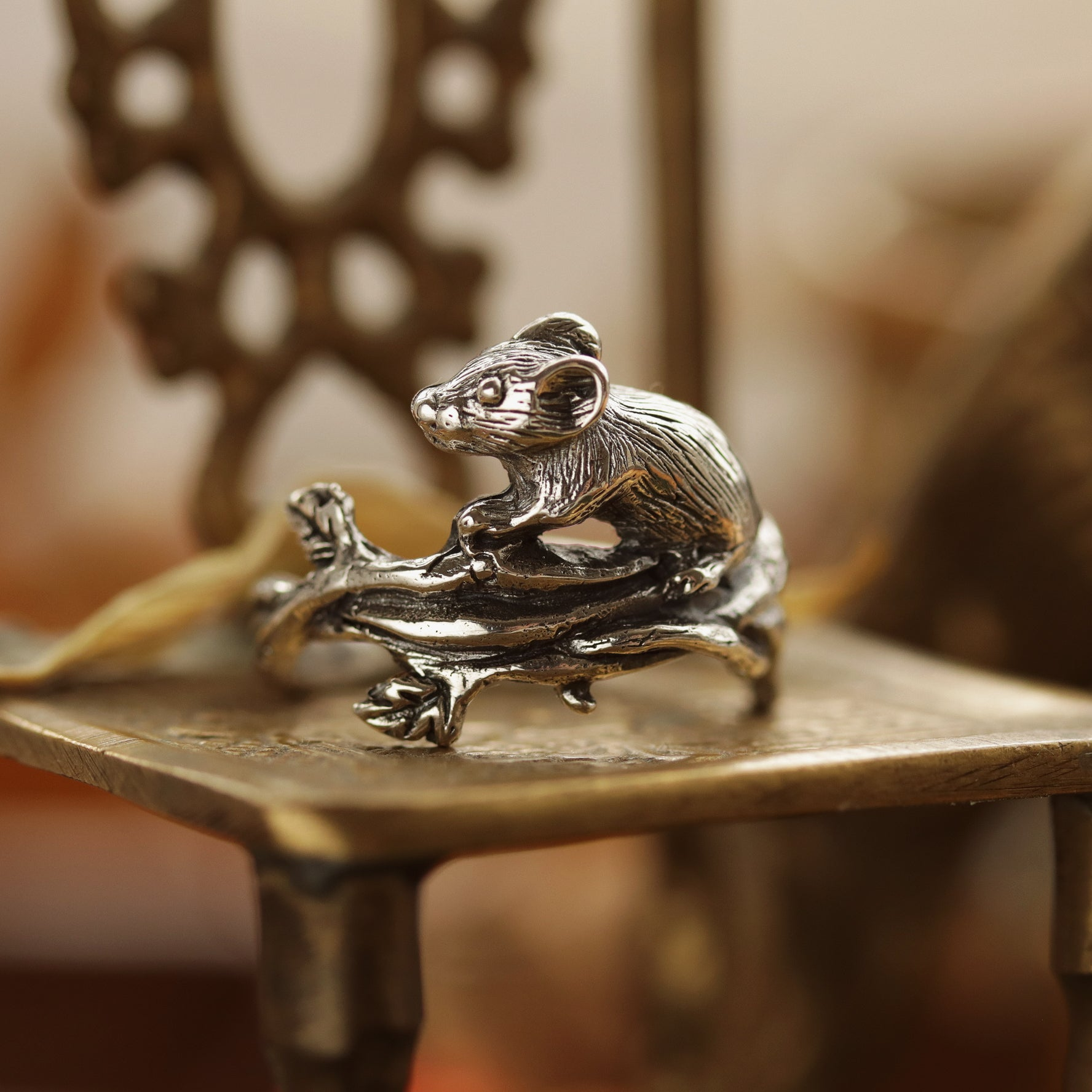 Wandering Wood Mouse Boho Ring | Talent Scout Winner