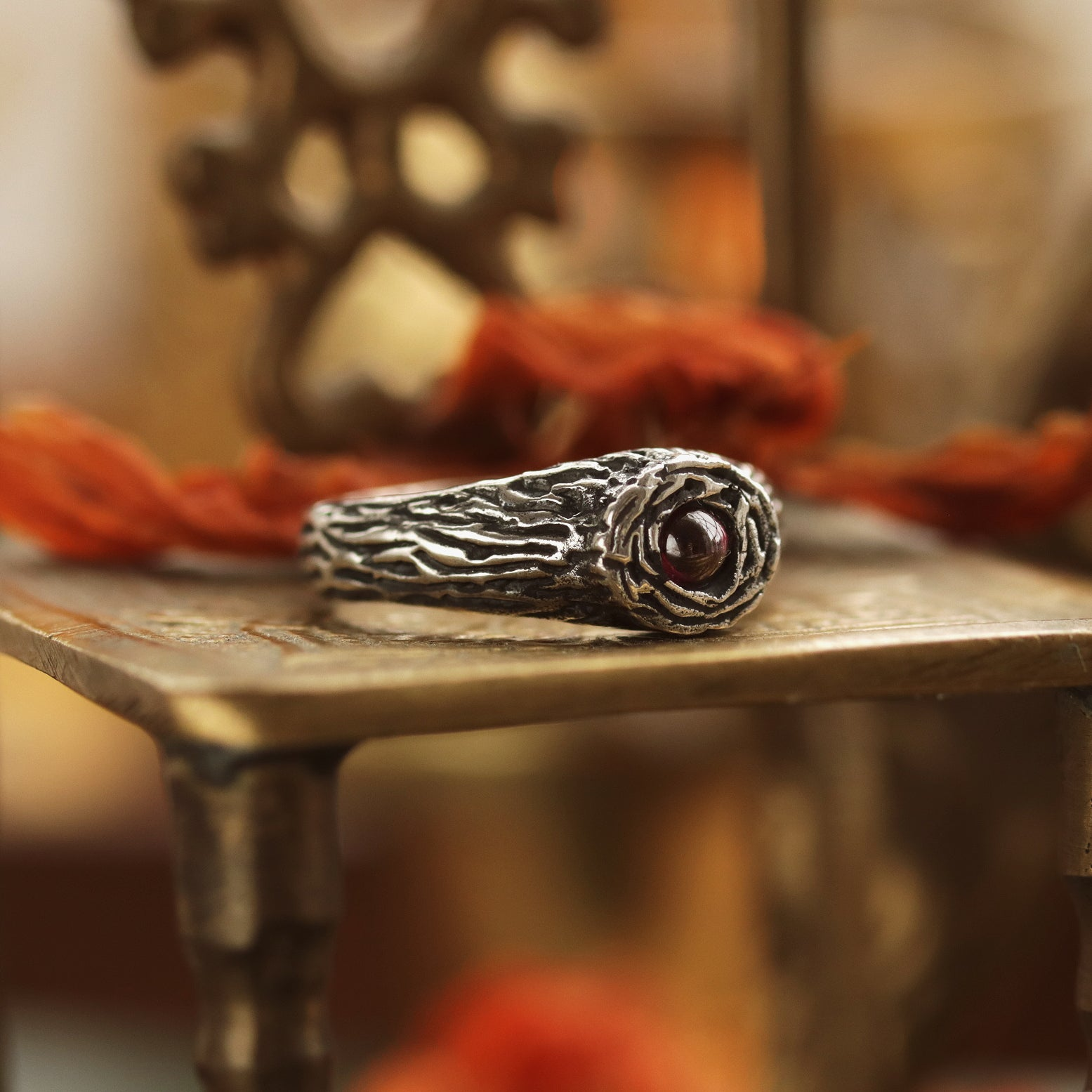 Sisu Tree Garnet Boho Ring | Talent Scout Winner