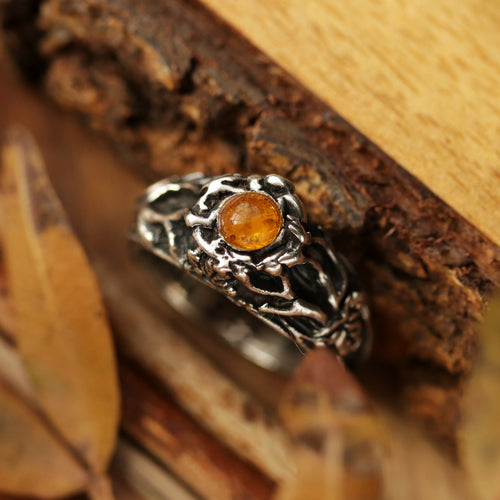 Sisu Ivy & Amber Boho Tree Ring | Talent Scout Winner