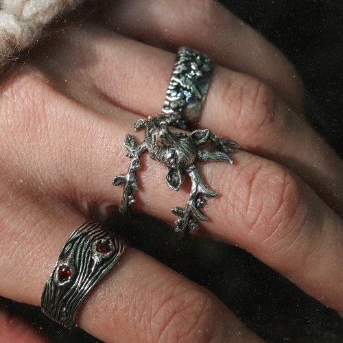 LAST CHANCE Forest Spirit Deer Head Boho Ring | Talent Scout Winner