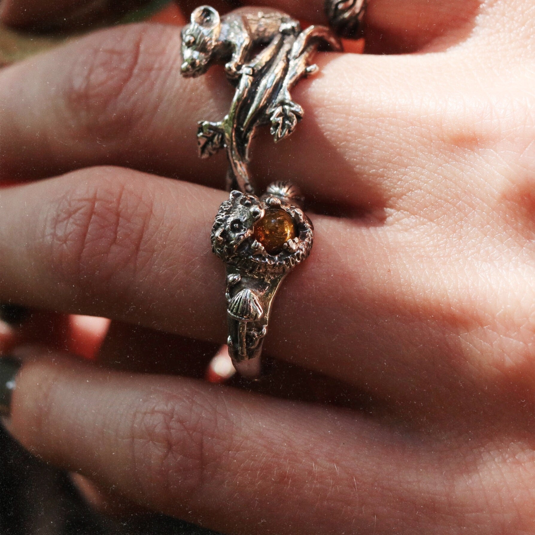 Autumn Forest Hedgehog Ring | Talent Scout Winner