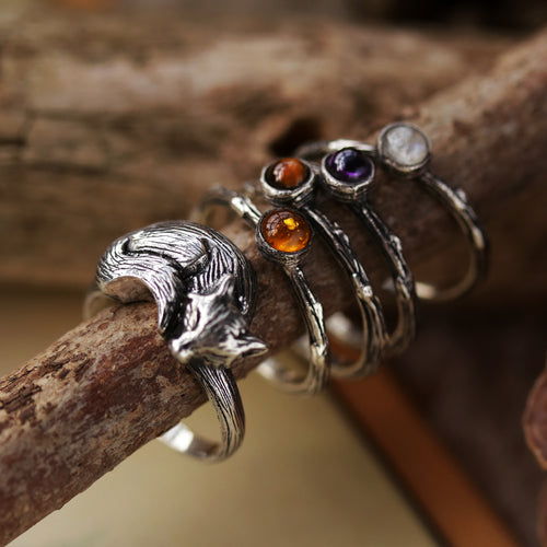 Winter's Tale Amethyst Sterling Silver Boho Ring