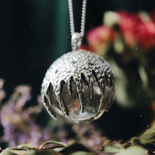 Victory Clear Quartz Crystal Ball Necklace #09