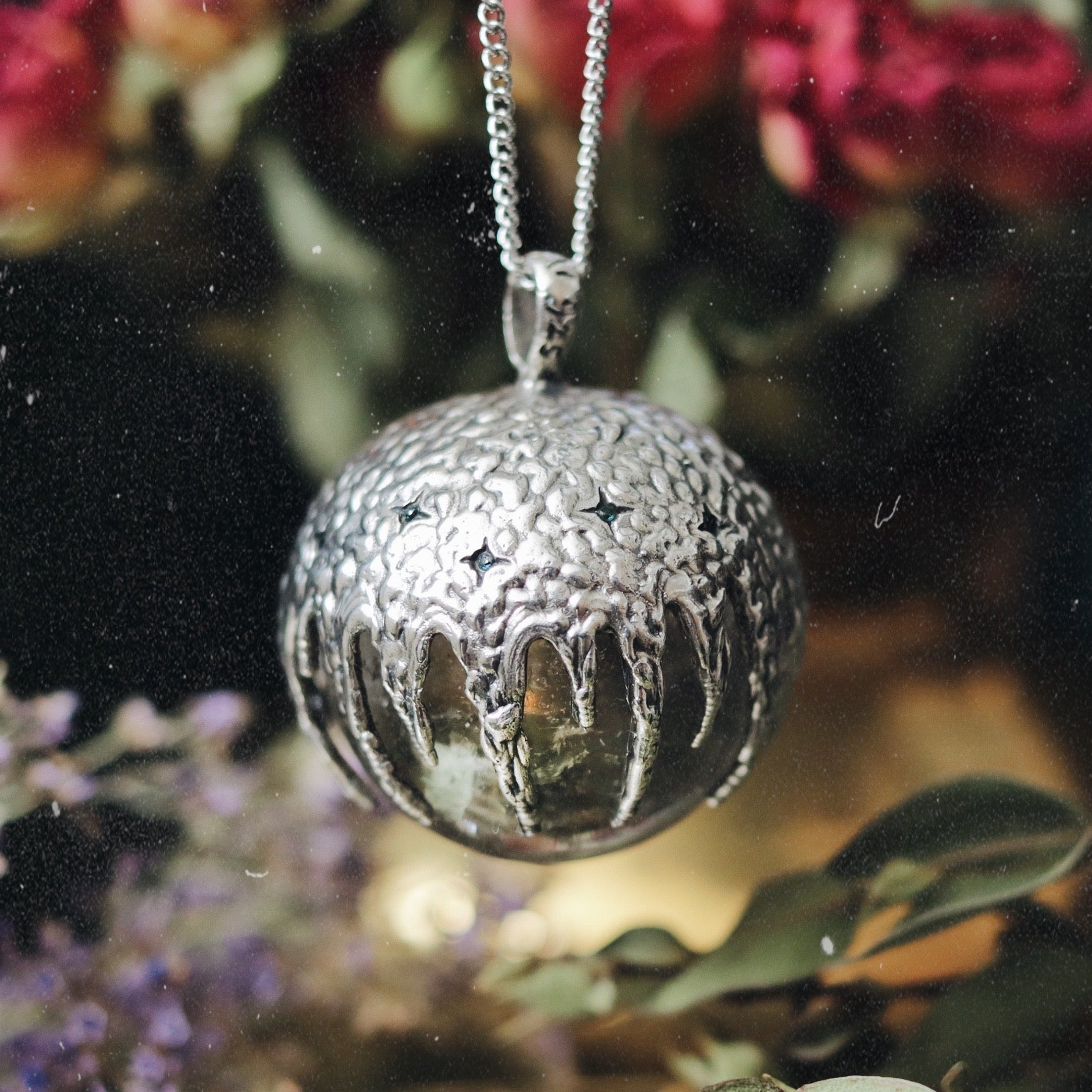 Victory Clear Quartz Crystal Ball Necklace #16