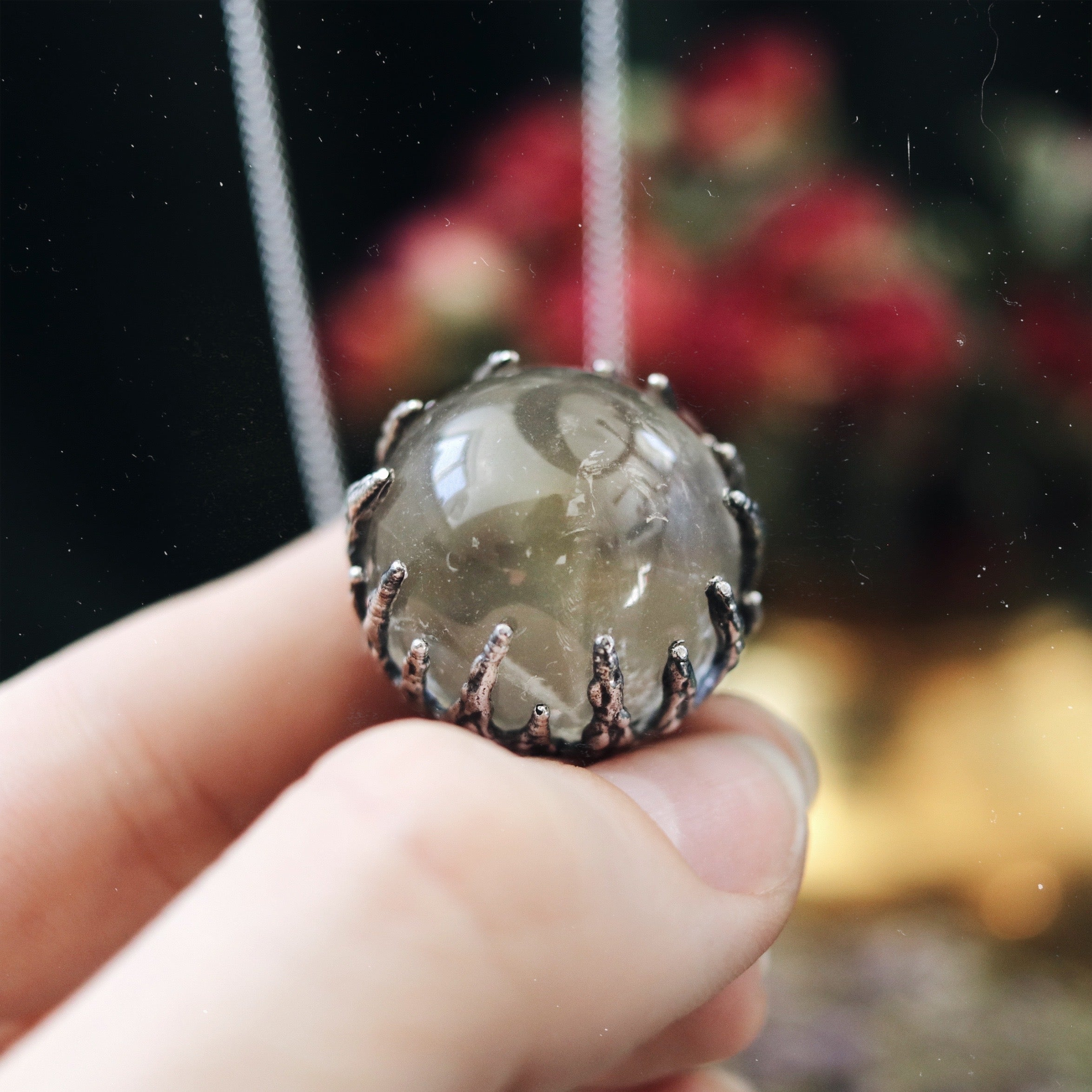 Victory Clear Quartz Crystal Ball Necklace #30
