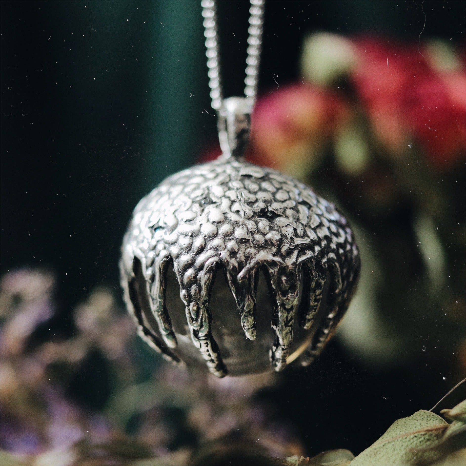 Victory Clear Quartz Crystal Ball Necklace #07