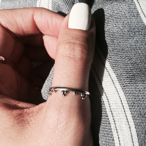 Monarch Sterling Silver Boho Chic Ring  *Midi or Thumb
