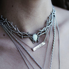 LOW IN STOCK | Skadi Goddess Of Winter Thorn Choker Ice