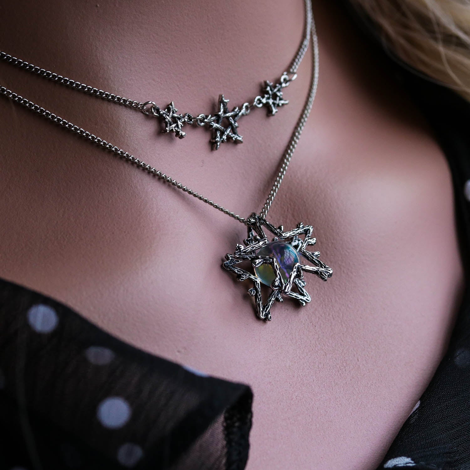 Willow Magick Crystal Ball Fortune Necklace | Harmony Nice X Dixi