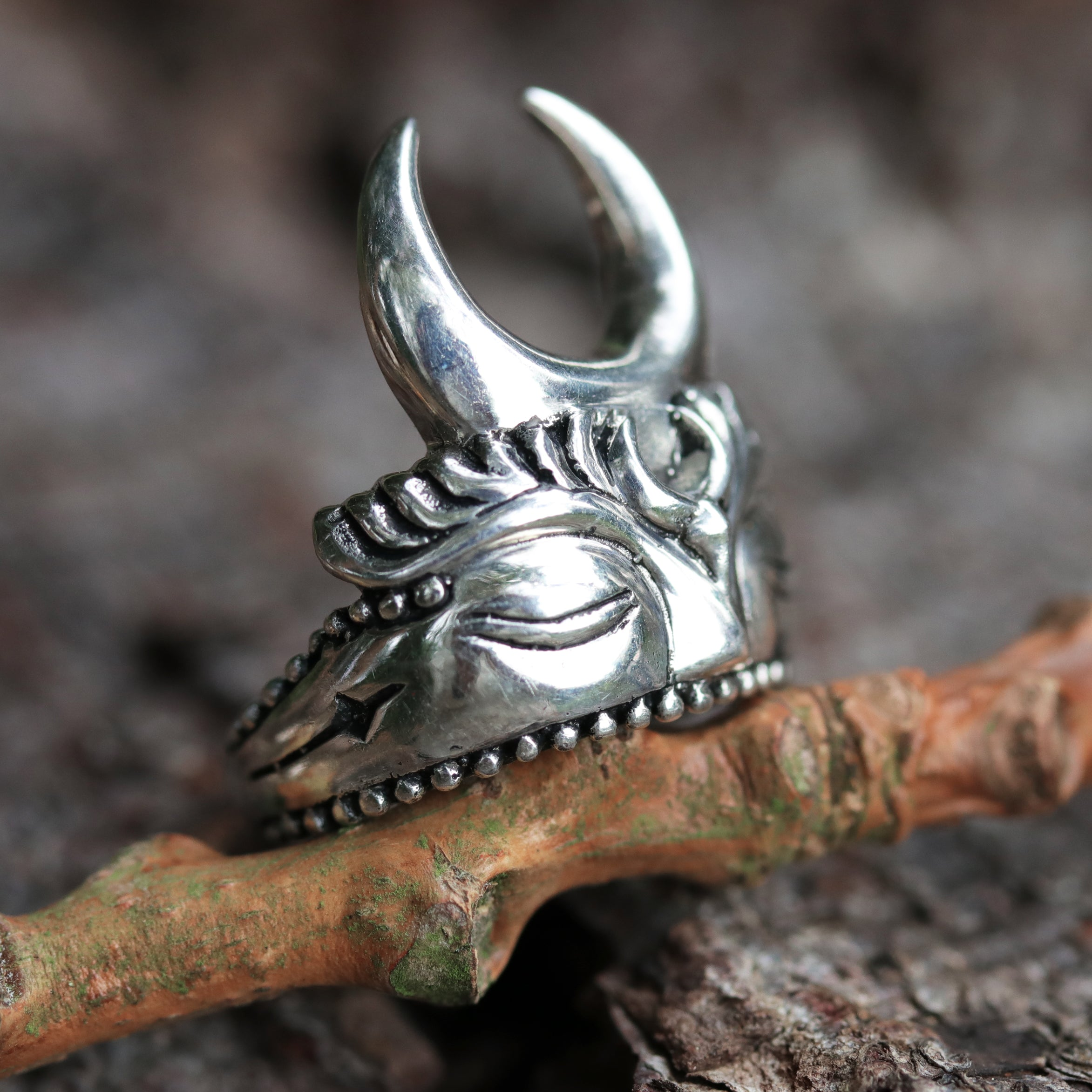 The Watcher Green Man Bohemian Ring