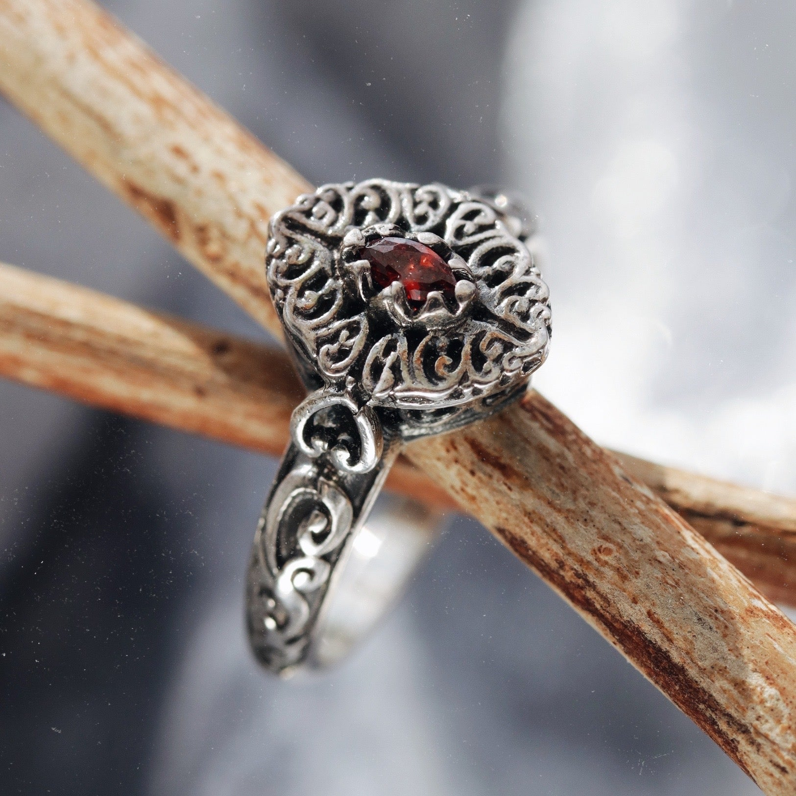 Raina Red Cubic Zirconia Ring