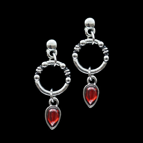 Cocidius Blood Red Drop Earrings