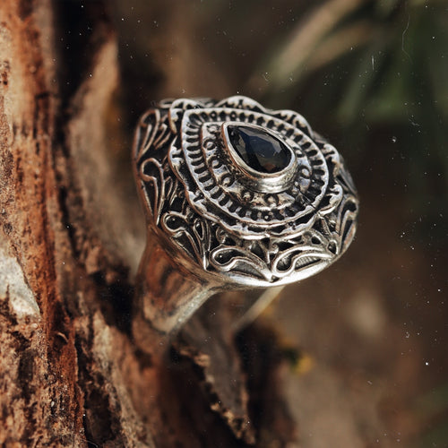 Matriarch Black Cubic Zirconia Ring
