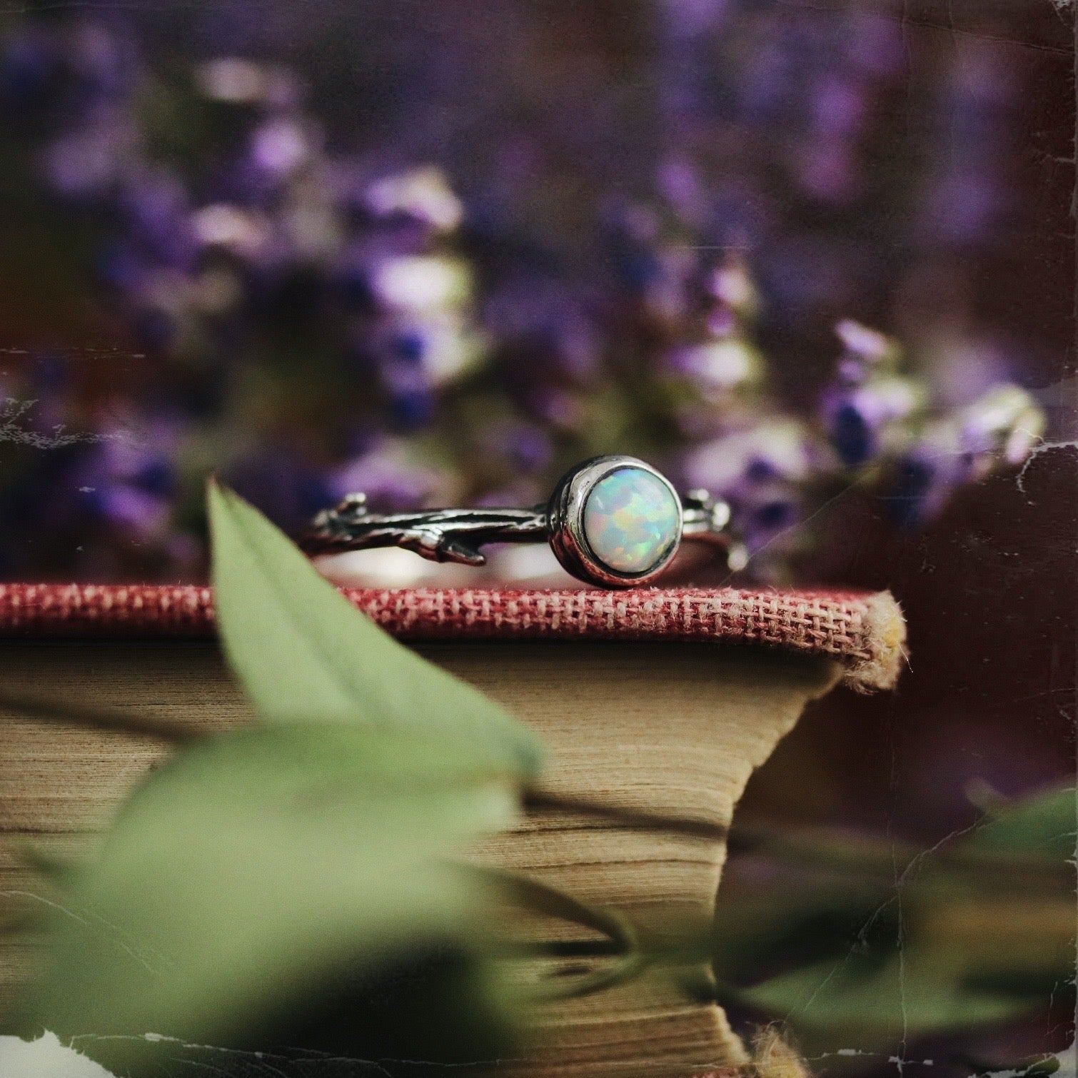 Luna Lupus Snow Opal Branch Ring