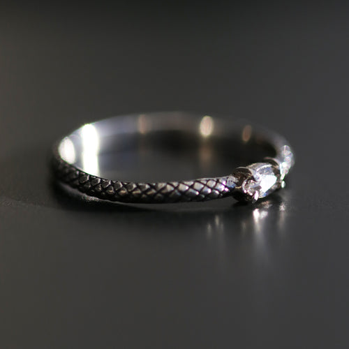 Kadru Serpent Clear Quartz Gothic Ring