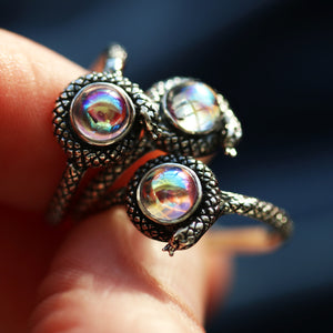 Mystic Snake Regent Sterling Silver Gothic Ring