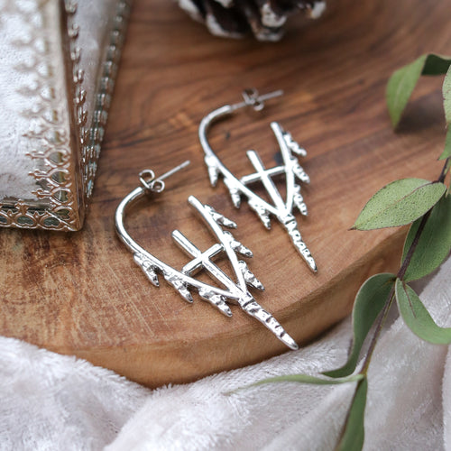 Gladius Icicle Sword Drop Earrings