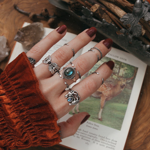 Facing Deer Labradorite Boho Ring | Talent Scout Winner