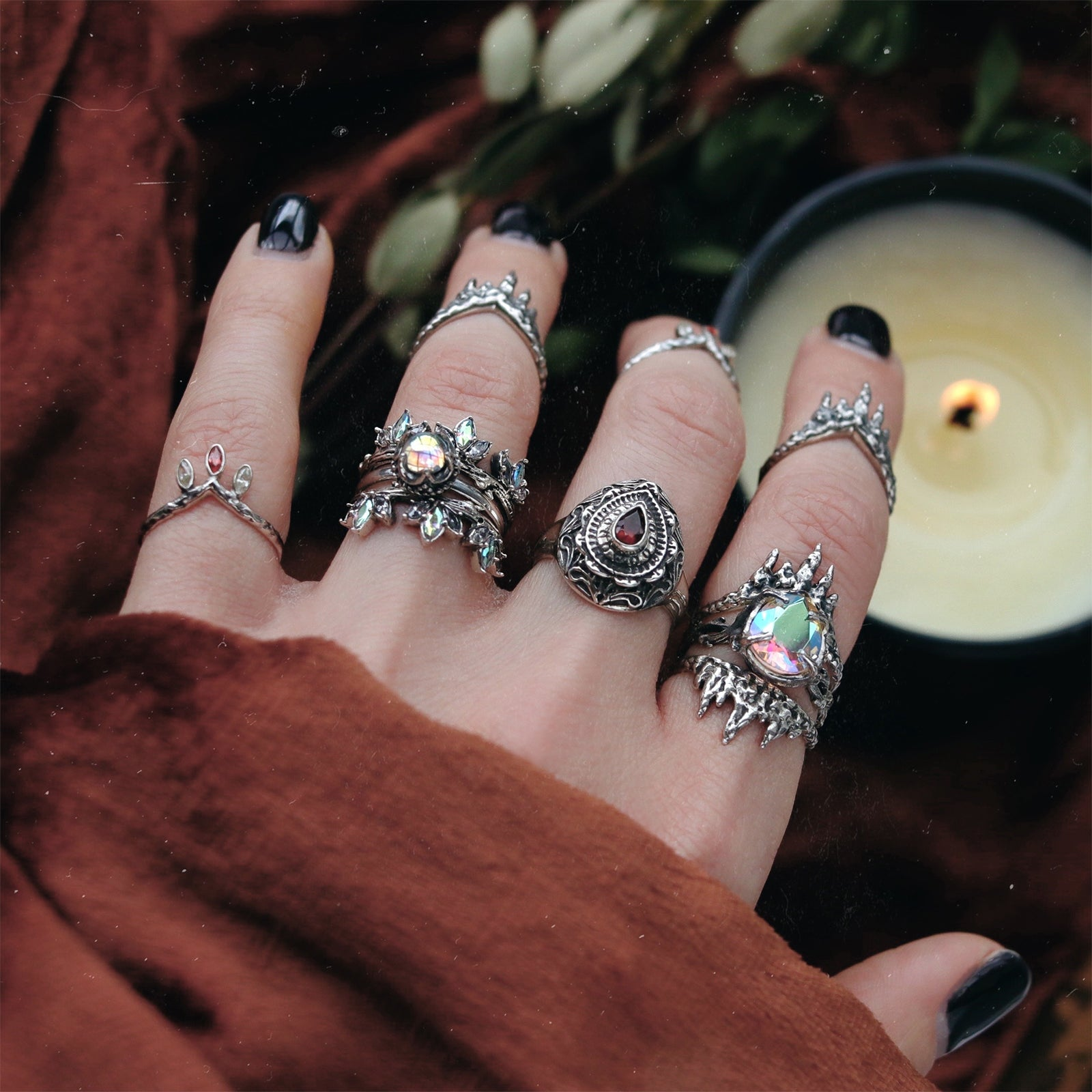 Até Mystic & Clear Branch Ring