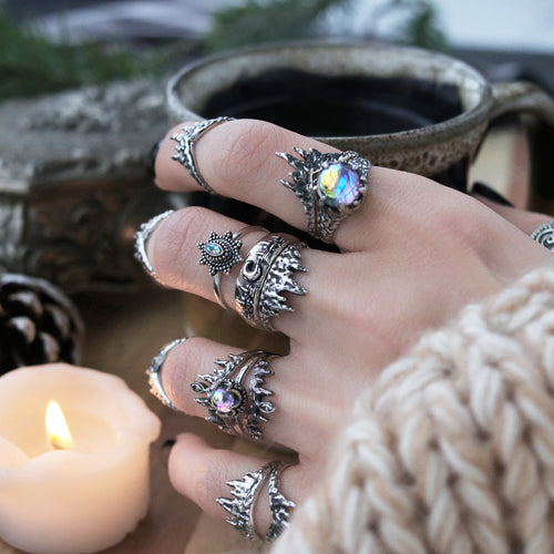 Before The Dawn Icicle Wishbone Ring Mystic