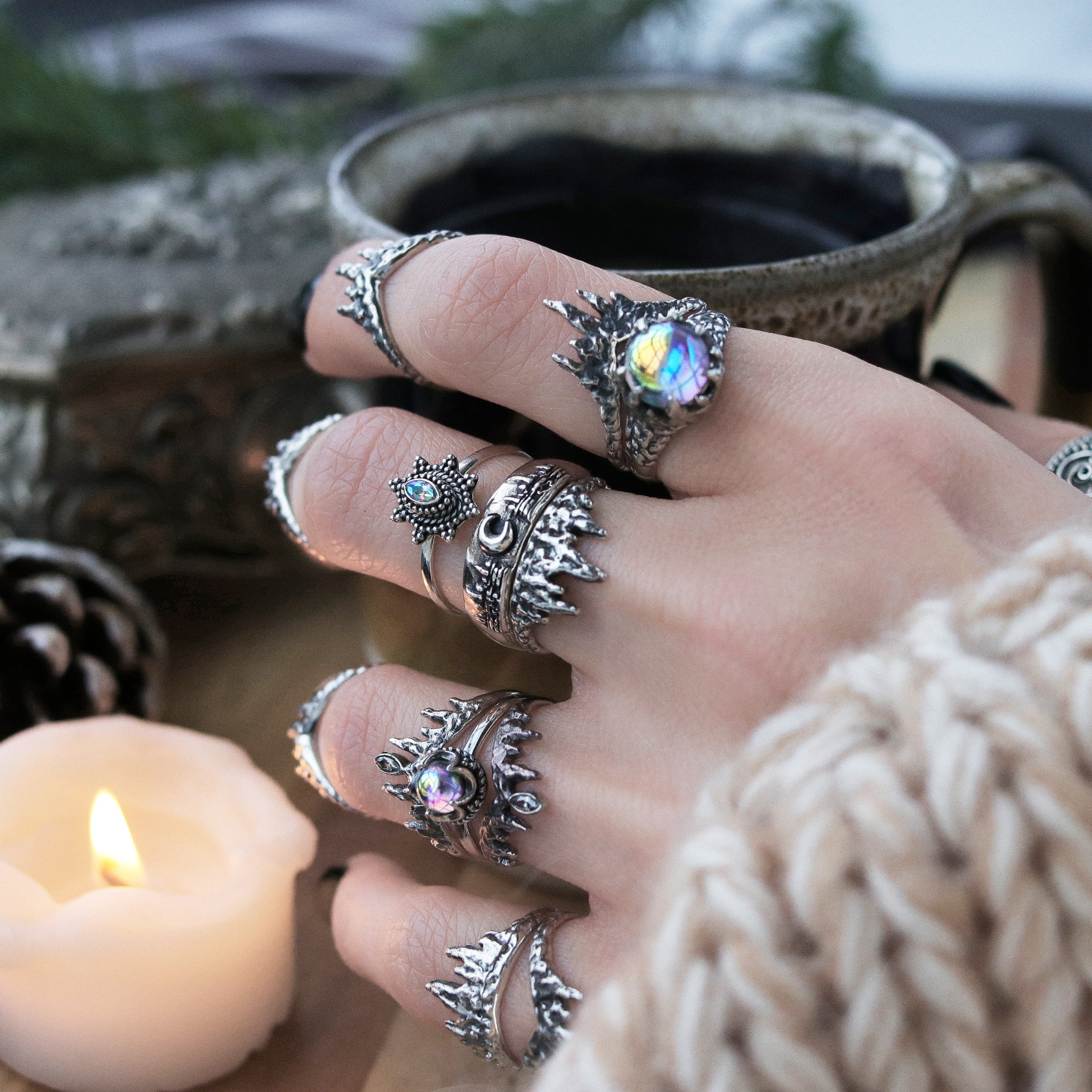 Glaciem Regina Mystic Icicle / Fire Ring