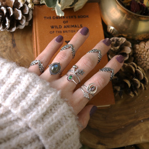 Pixie Dust Sterling Silver Boho Chic Ring *Colour Select