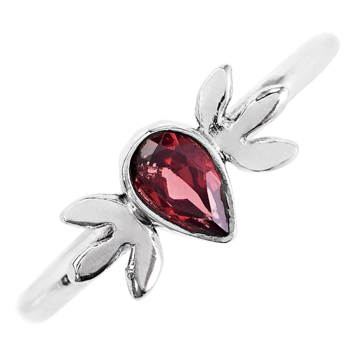 Little Oak Garnet Cubic Zirconia Ring
