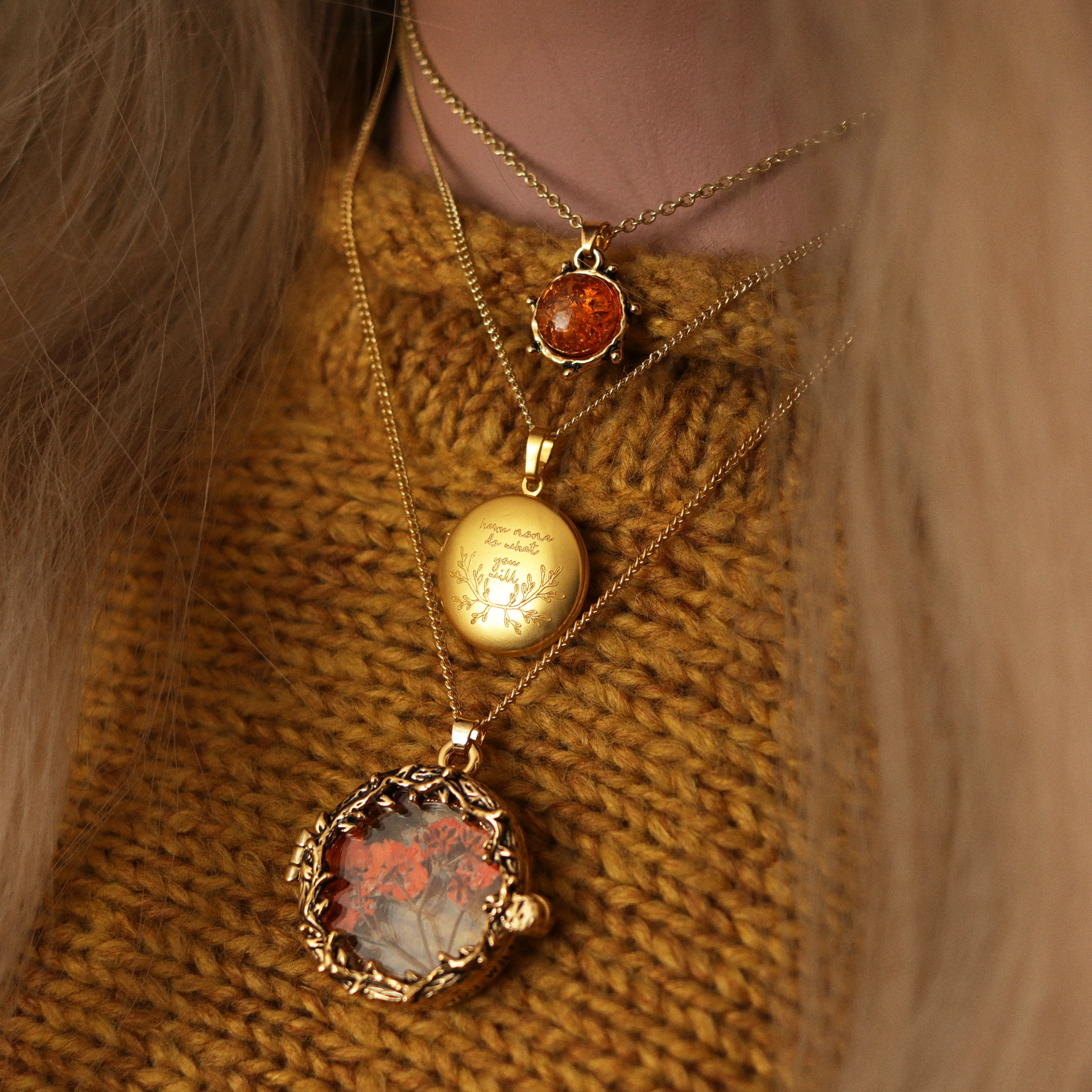 Bramble Heart Autumnal Choker / Necklace *Style Selection