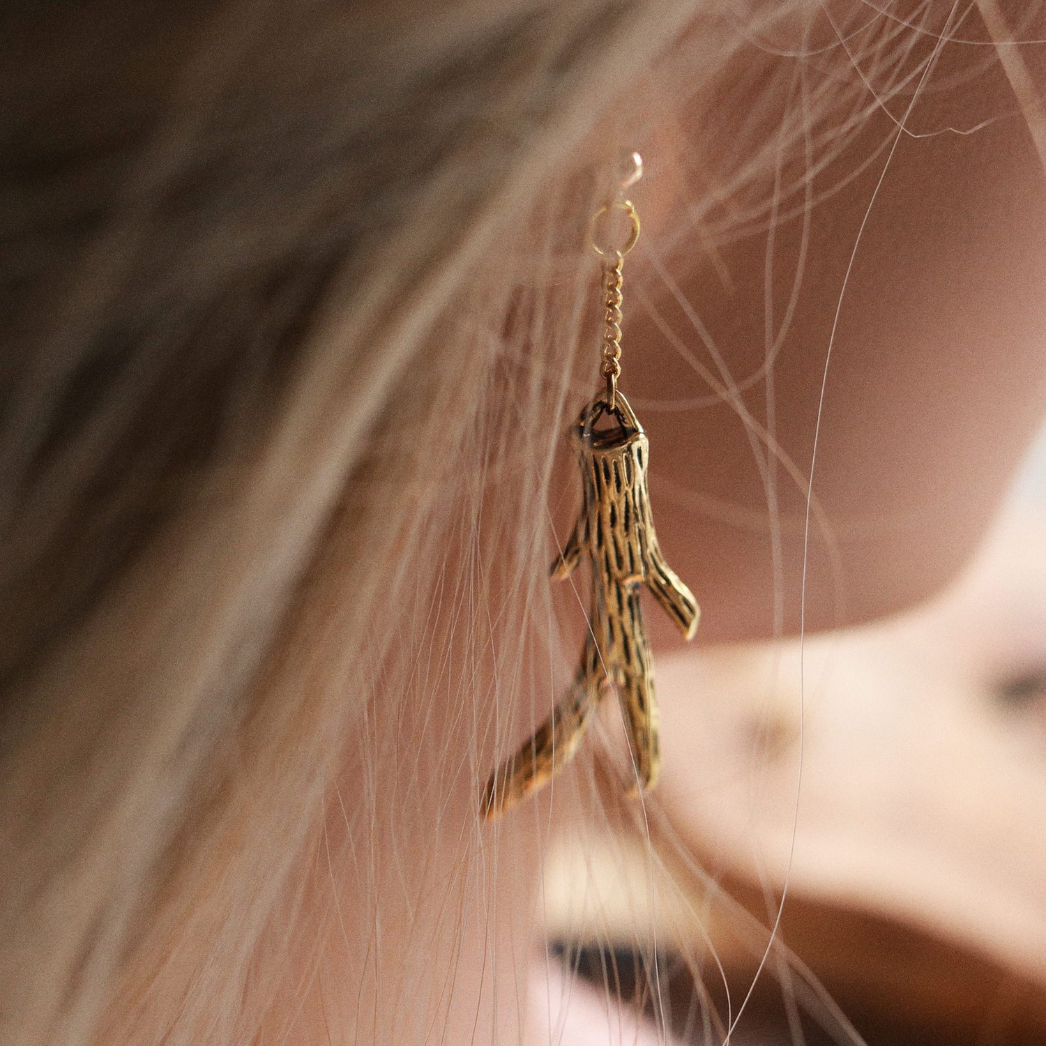 Queen Of The Woods Boho Antler Ear Studs | Talent Scout Winner