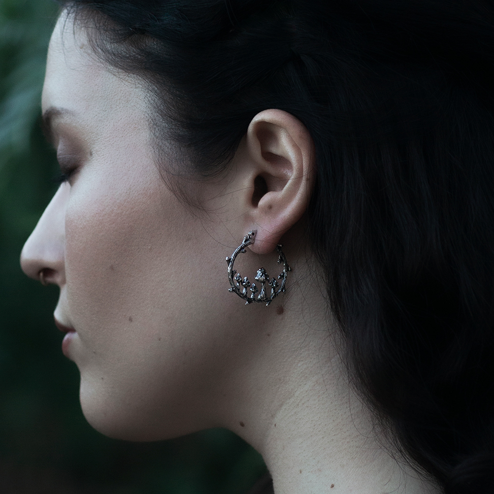 Fairy Ring Toadstool Hoop Earrings | Harmony Nice X Dixi