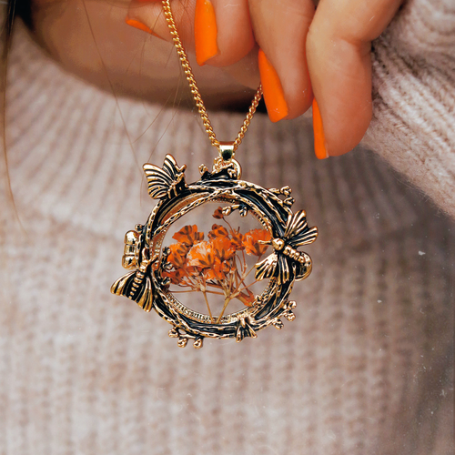 Nocturnal Moth Window Locket Necklace | Talent Scout Winner