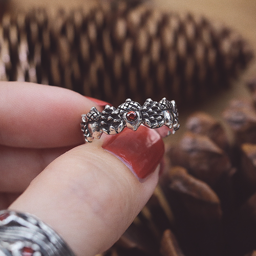 Woodland Wreath Acorn & Pine Cone Ring | Talent Scout Winner