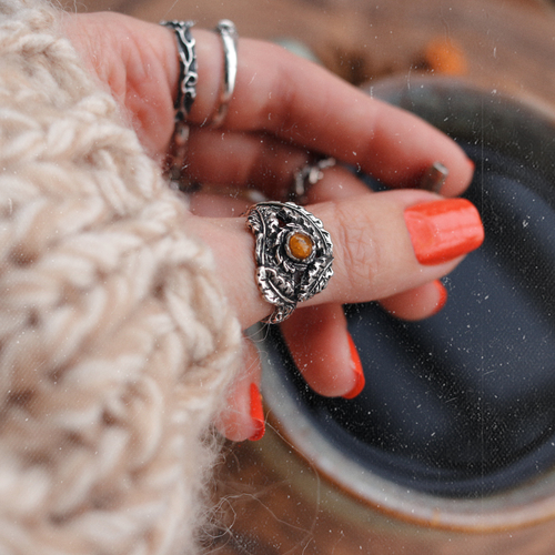 Quercus Rex & Amber Boho Ring | Talent Scout Winner