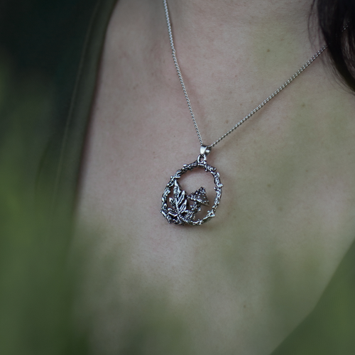 Forest Floor Mushroom & Fern Necklace | Talent Scout Winner