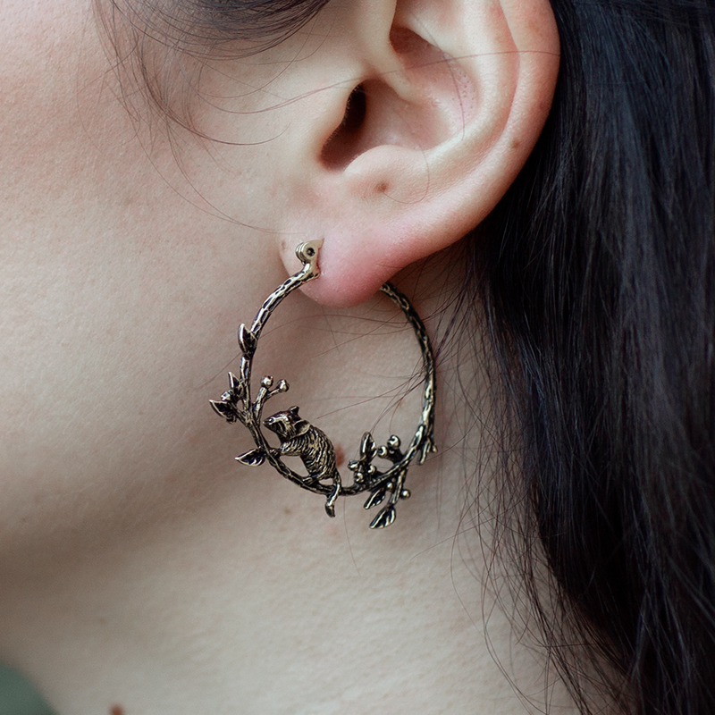 LAST CHANCE The Way Of The Wood Mouse Hoop Earrings | Talent Scout Winner
