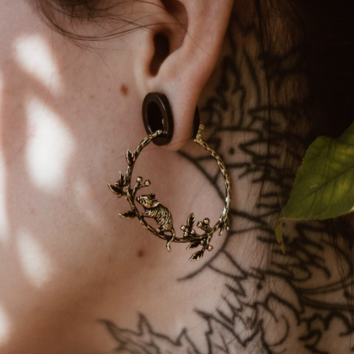 The Way Of The Wood Mouse Hoop Earrings | Talent Scout Winner