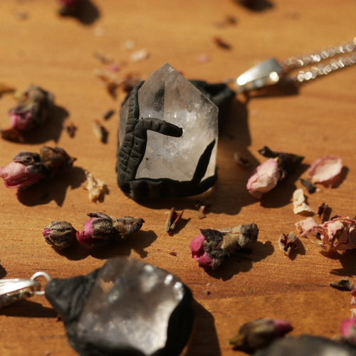 Elemental Spirit Apophyllite Crystal Point Necklace | Harmony Nice X Dixi
